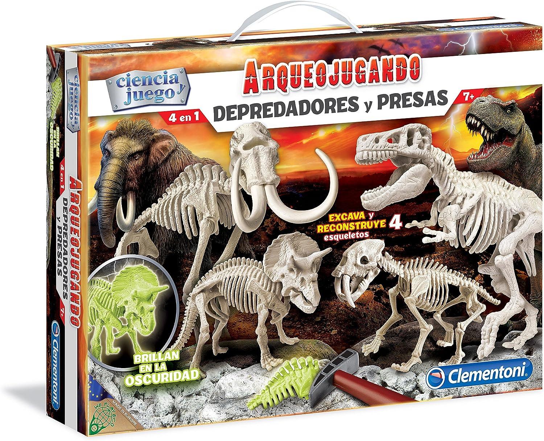 Clementoni Depredadores y presas, Juego con dinosauros (55110.1)