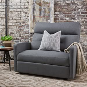 Christopher Knight Home 301302 Hana Recliner, Fabric/Charcoal
