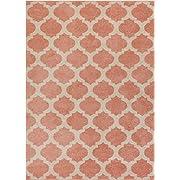 HomeWay Pattern Rugs - Fine Trellis Lattice Modern Area Rug Blush 5' x 7' Carpet