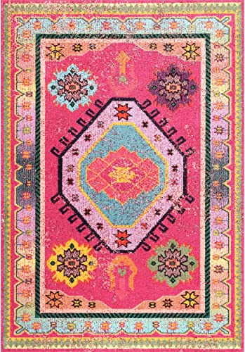 nuLOOM Abigail Bohemian Area Rug, 8 x 10 , Pink