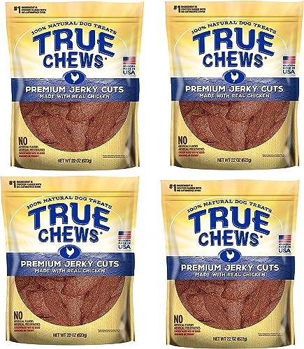 True Chews Dog Treats Premium Chicken Jerky 22oz Made in USA 4 Packs