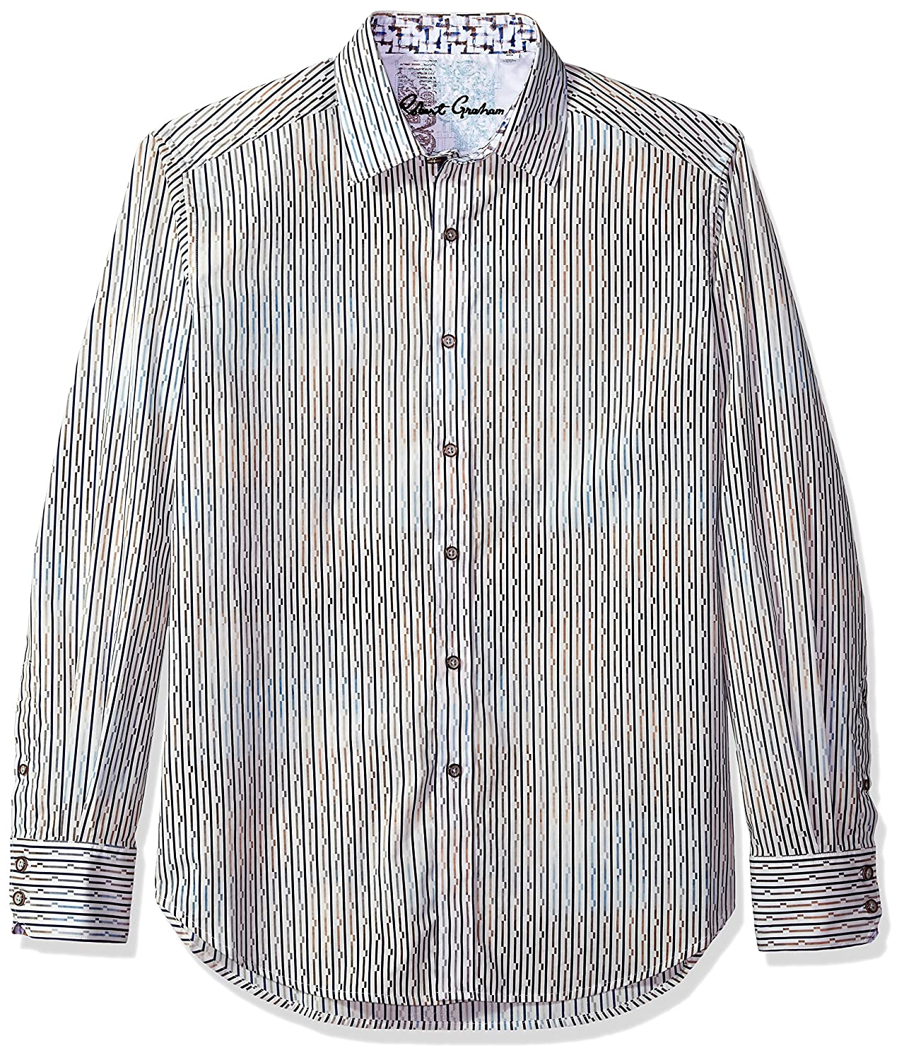 Multicoloured Robert Graham Mens Trinidad Long Sleeve Classic Fit Shirt Button Down Shirt