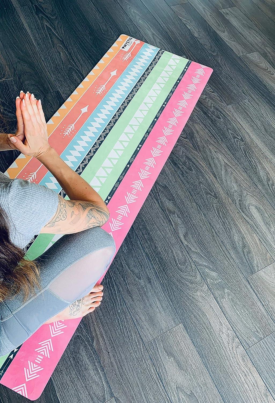 /Écologique /Épais 5.5mm /& Grand Yoga Mat 183x61cm Tapis Yoga PRO MYSTIQ Yoga 14 Designs En Caoutchouc Naturel /& Microfibre Bikram /& Marque Fran/çaise Fitness Non Glissant /& Recyclable Tapis Pilates Anti-D/érapant