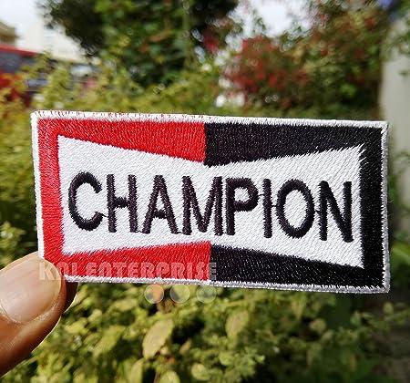 best quality exclusive shoes super cheap Vintage Champion Patch   Spark Plug Logo Motorbike Jacket ...