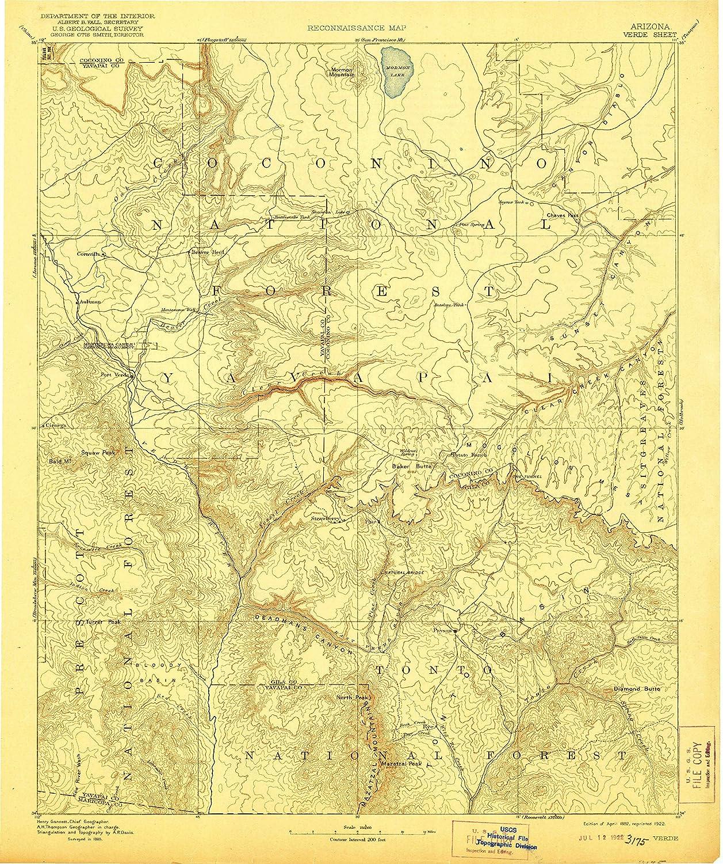 Az Topographic Map.Amazon Com Yellowmaps Verde Az Topo Map 1 250000 Scale 1 X 1