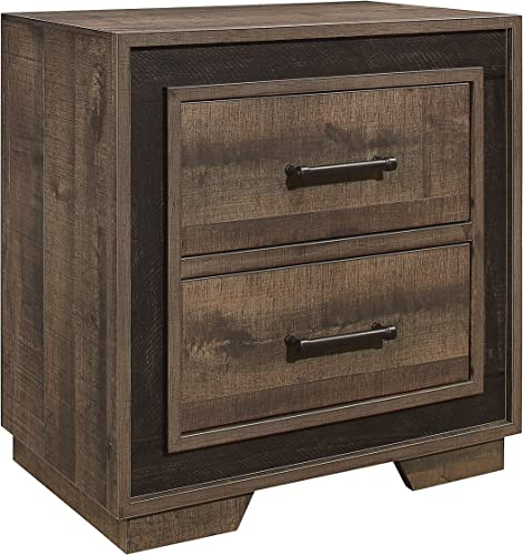 Lexicon Two-Drawer Nightstand, One-Size, Tone