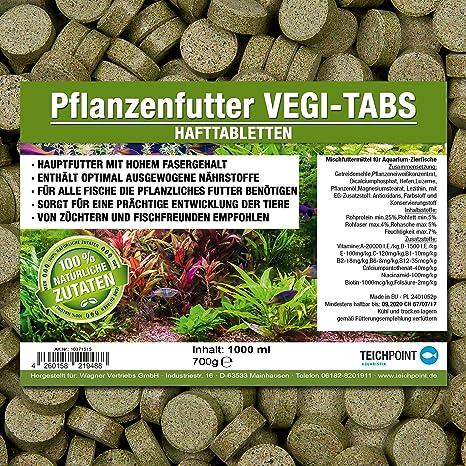 Pastillas vegetales Vegi-Tabs prémium, alimento para todos los peces ornamentales que comen plantas