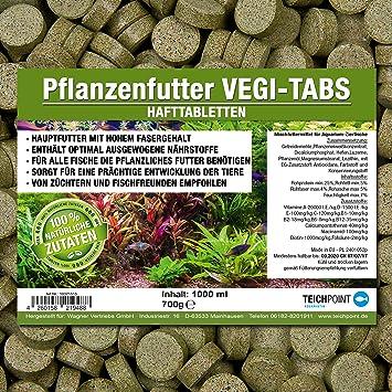 Pastillas vegetales Vegi-Tabs prémium, alimento para todos los peces ornamentales que comen plantas y algas, en bolsa de 1 litro: Amazon.es: Productos para ...