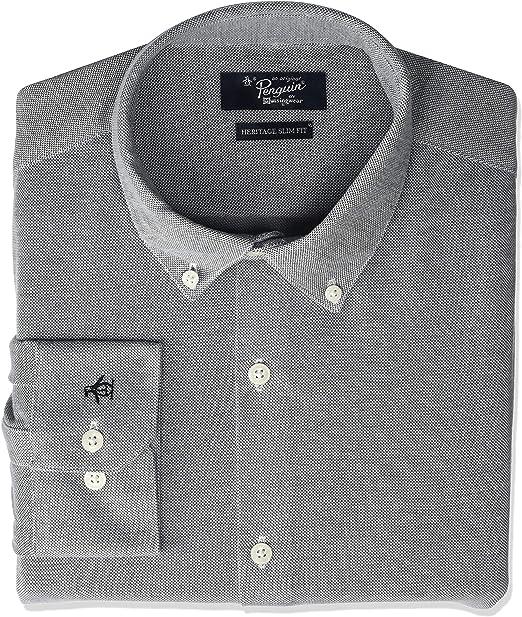Original Penguin Mens Essential Slim Fit Spread Collar Dress Shirt