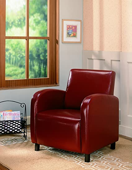 Coaster Contemporary Upholstered Accent Chair, Red