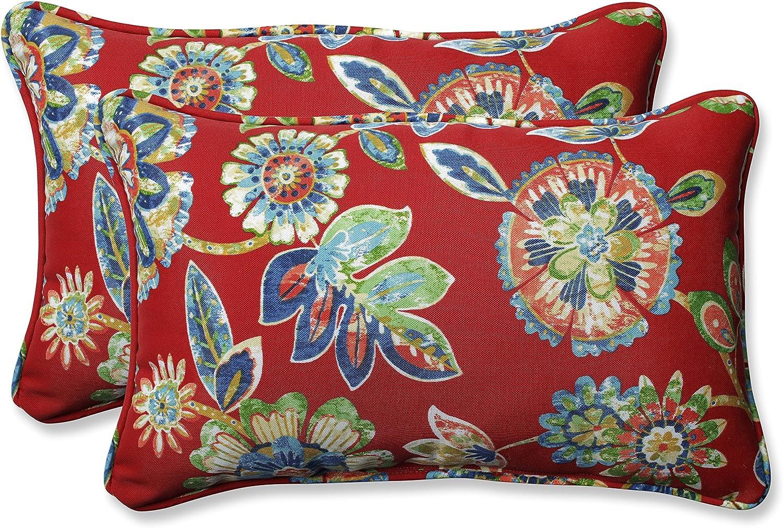Pillow Perfect Outdoor Indoor Daelyn Cherry Rectangular Throw Pillow Set of 2