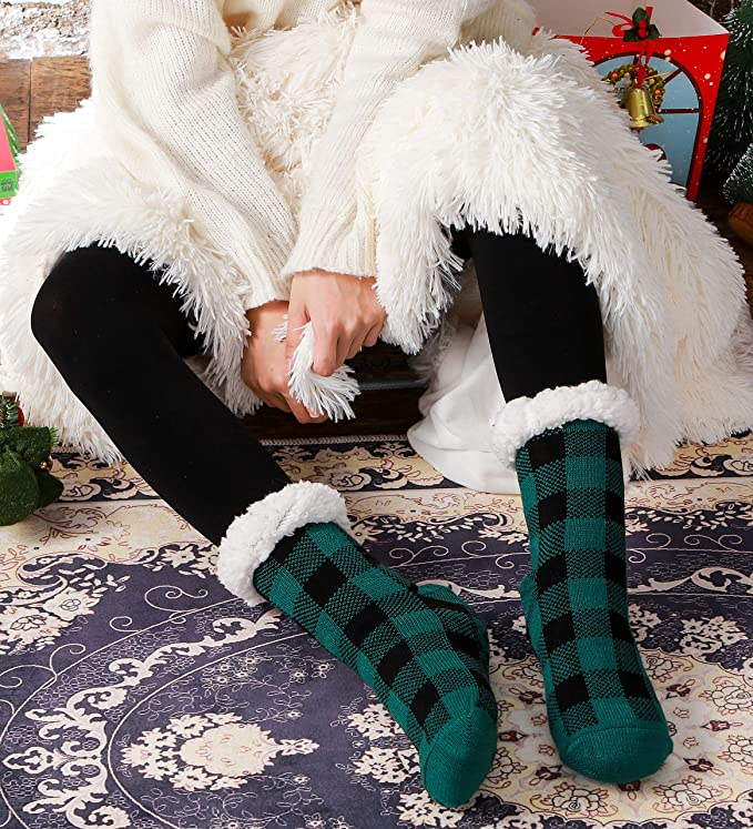fuzzy socks for co-workers gift