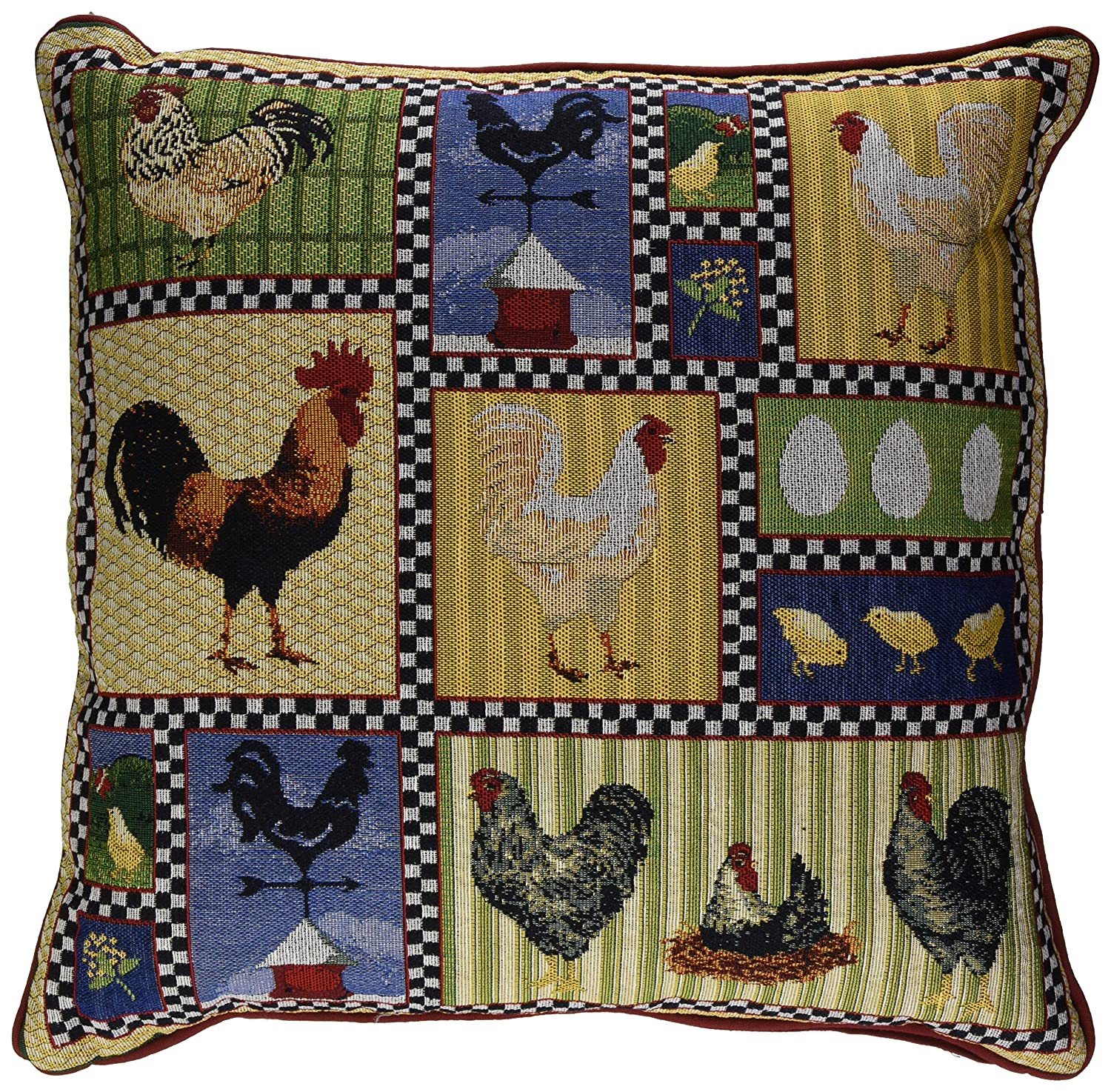 Genial Amazon.com: Park B. Smith Roosters And Chickens 18 By 18 Inch Tapestry  Decorative Pillow: Home U0026 Kitchen