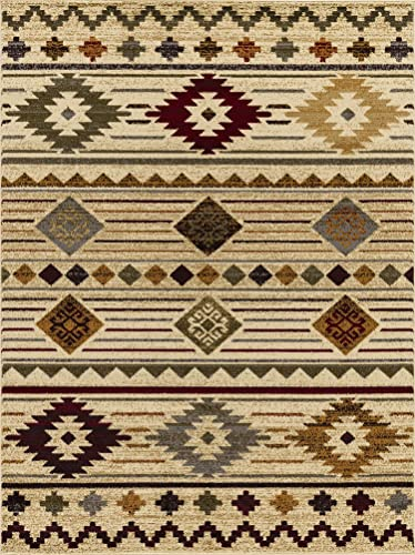 Mod-Arte Crown Collection Area Rug Contemporary Traditional Style Ivory Vintage 7 8 x 10 2