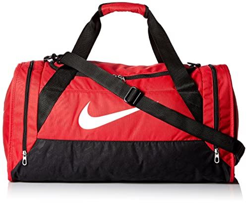Tumba impactante Racionalización  Nike Brasilia 6 Medium Duffel Bag (Gym Red/Black/White): Amazon.in: Bags,  Wallets & Luggage
