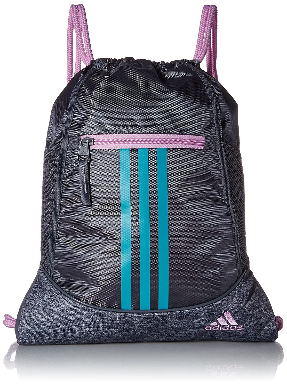 Adidas Alliance II Sackpack B077MMSTJX One Size|Onix/Onix Jersey/Clear Lilac Purple/Hi - Res Aqua Gr Onix/Onix Jersey/Clear Lilac Purple/Hi  Res Aqua Gr One Size