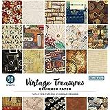 "Colorbok Designer Paper Pad, 12"" x 12"", Vintage Treasures,68117E"