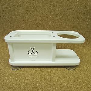 APF Marine Beverage Cup Holder w Storage Box Catch All
