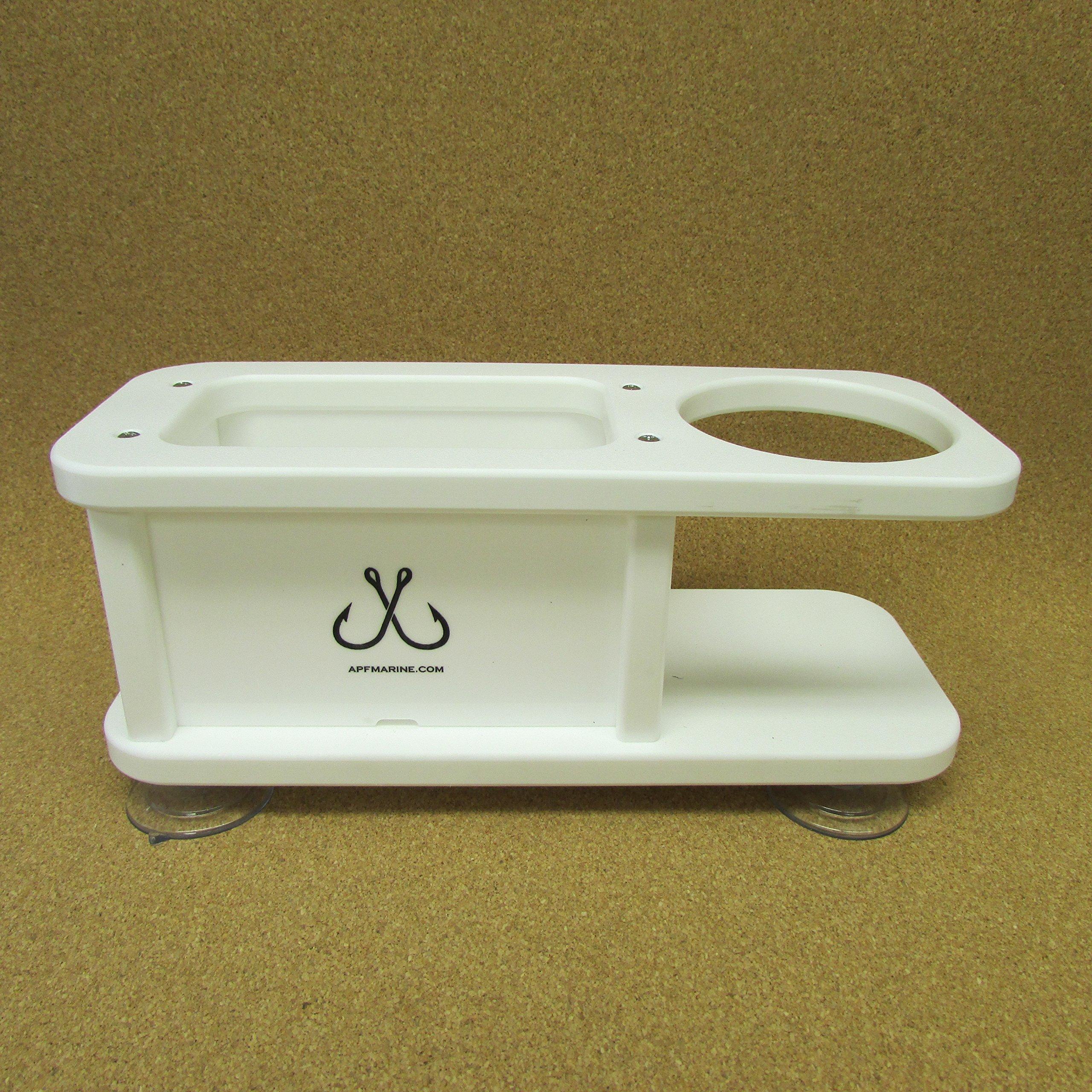 Beverage Cup Holder w Storage Box Catch All APF Marine
