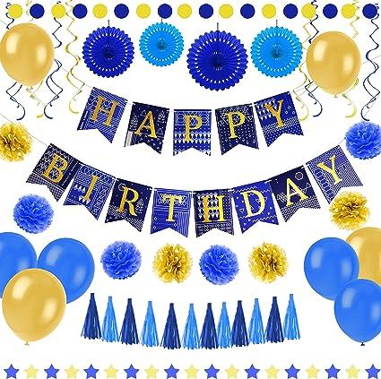 Amazon.com: Pancarta de feliz cumpleaños decoraciones con ...