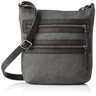Handtasche S.oliver Grau Damen Shoulder Bag Schultertasche Kleidung & Accessoires 4.5x38.5x32.5 Cm