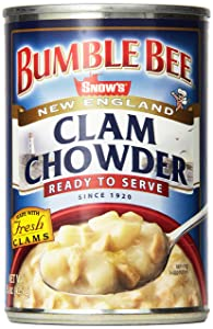 Bumble Bee SNOW'S Ready to Serve New England Clam Chowder, Ready to Serve Clam Chowder, 15 Oz (Pack of 12) (9852516060)
