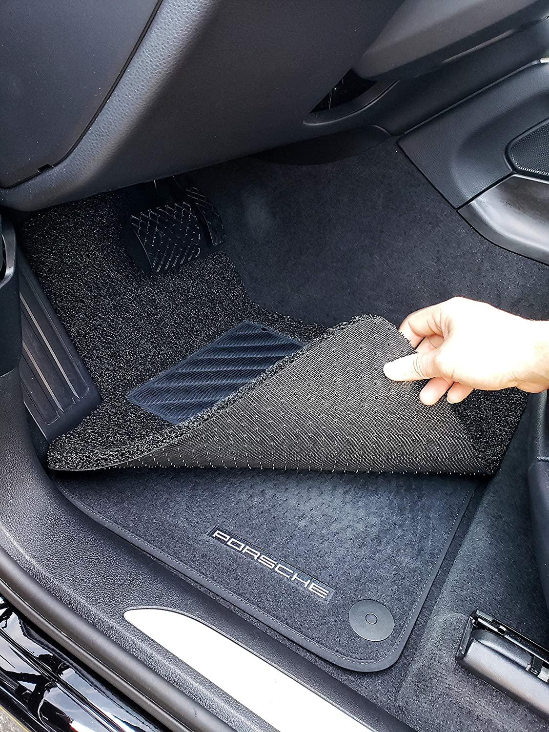 Autotech Zone Custom Fit Heavy Duty Custom Fit Car Floor Mat for 2011-2016 Kia Sportage All Weather Protector 4 Pieces Set Black