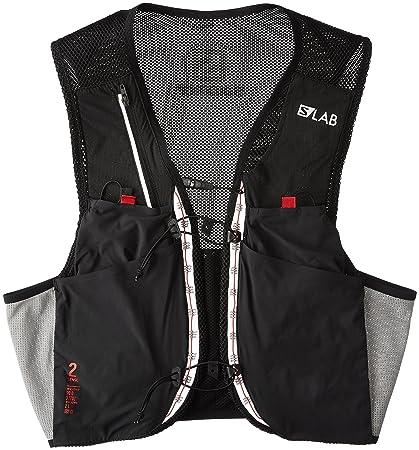 9d8dc3e167 Salomon Unisex S/Lab Sense 2 Set Hydration Vest, Black/Racing Red,