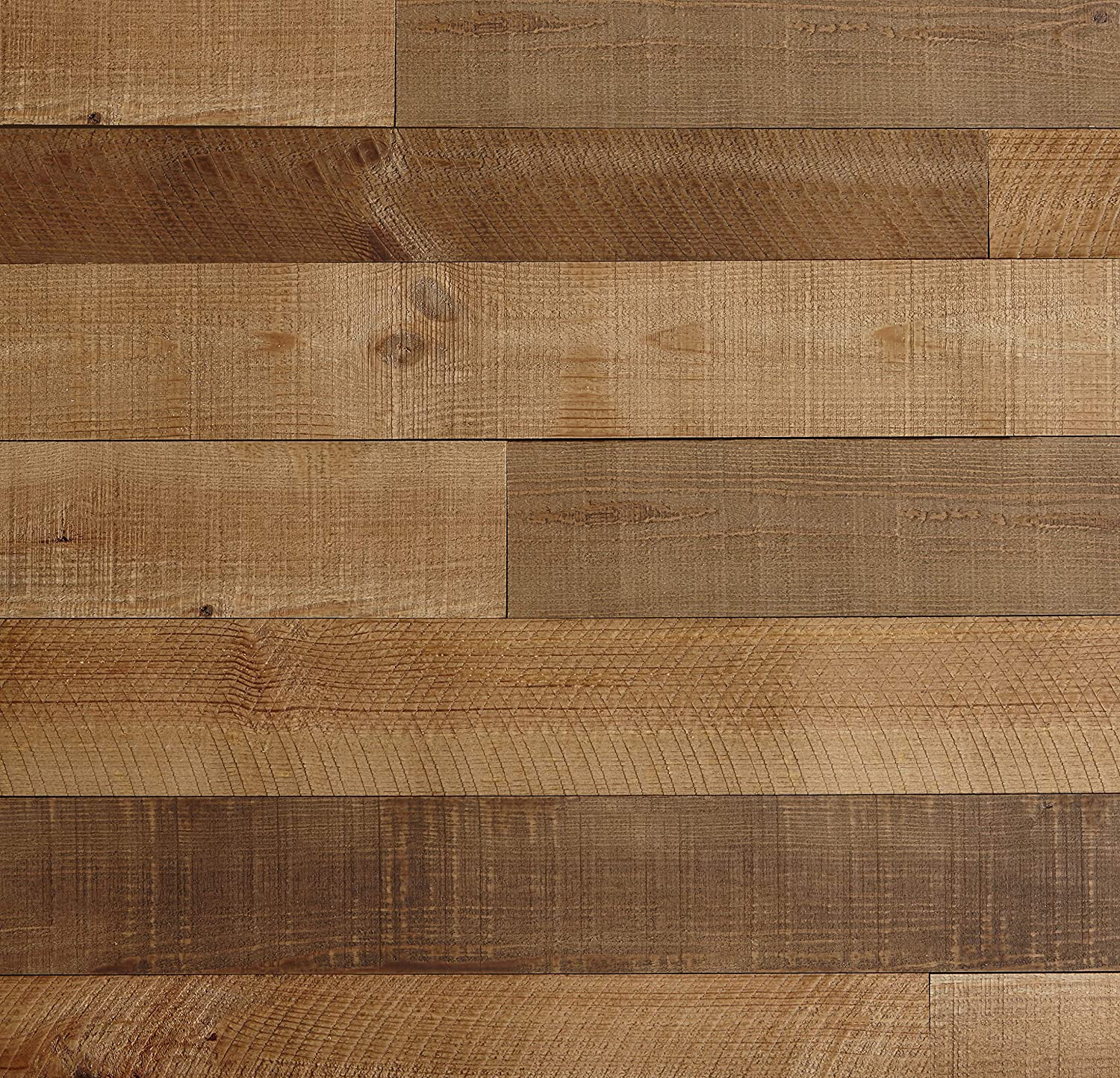 Timberwall - Barnwood Collection Heritage Brown - Wood Wall Panel - Solid Wood Planks - Easy Peel and Stick Application - 9.7 Sq Ft