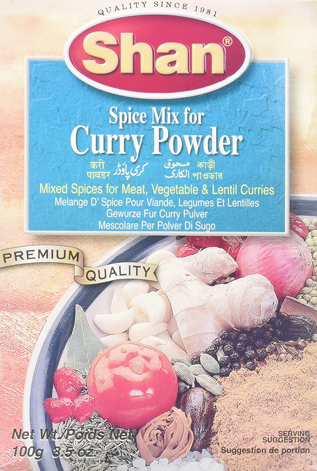 Amazon.com : Shan Spice Mix for Curry Powder, 3.5 Ounce : Indian ...