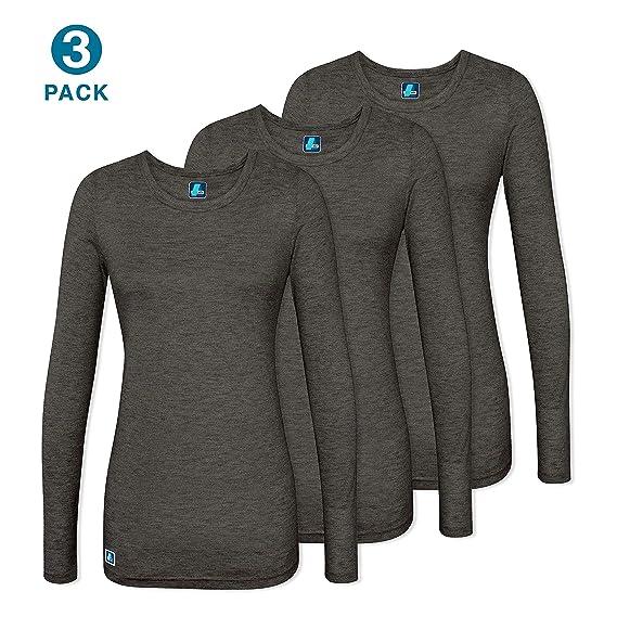 960e32d6183 ADAR UNIFORMS (3 Pack - Underscrub Medical Long Sleeve Tee for Women -  Color: