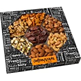 Valentines Day Gifts for Him Nuts Gift Basket Assortment Set, Prime Food Baskets Delivery for Mothers Day or Easter, Fresh & Gourmet Healthy Idea for Get Well or Birthday - by Jeffrey's Nuts