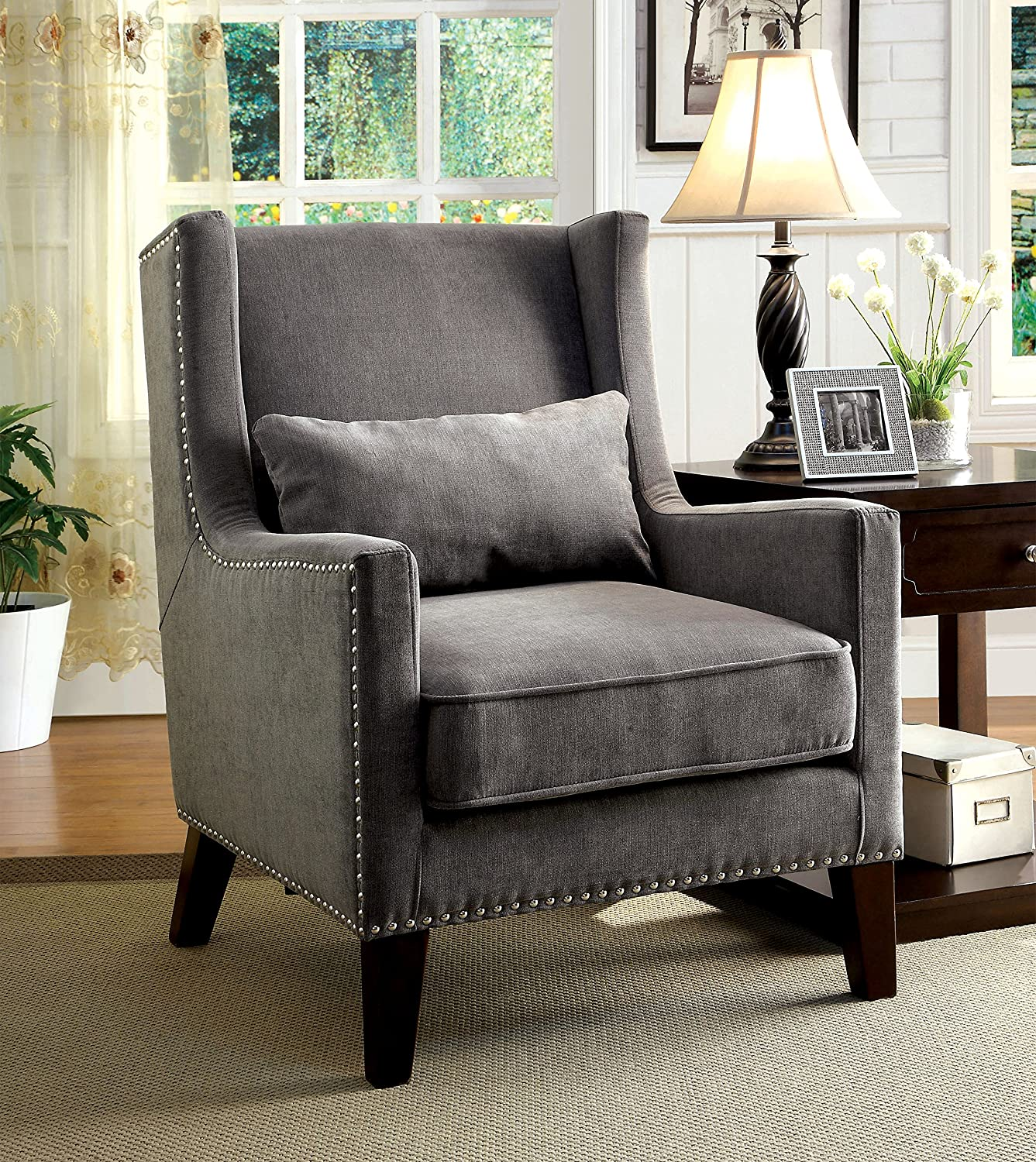 Amazon Furniture of America Aiza Contemporary Upholstered