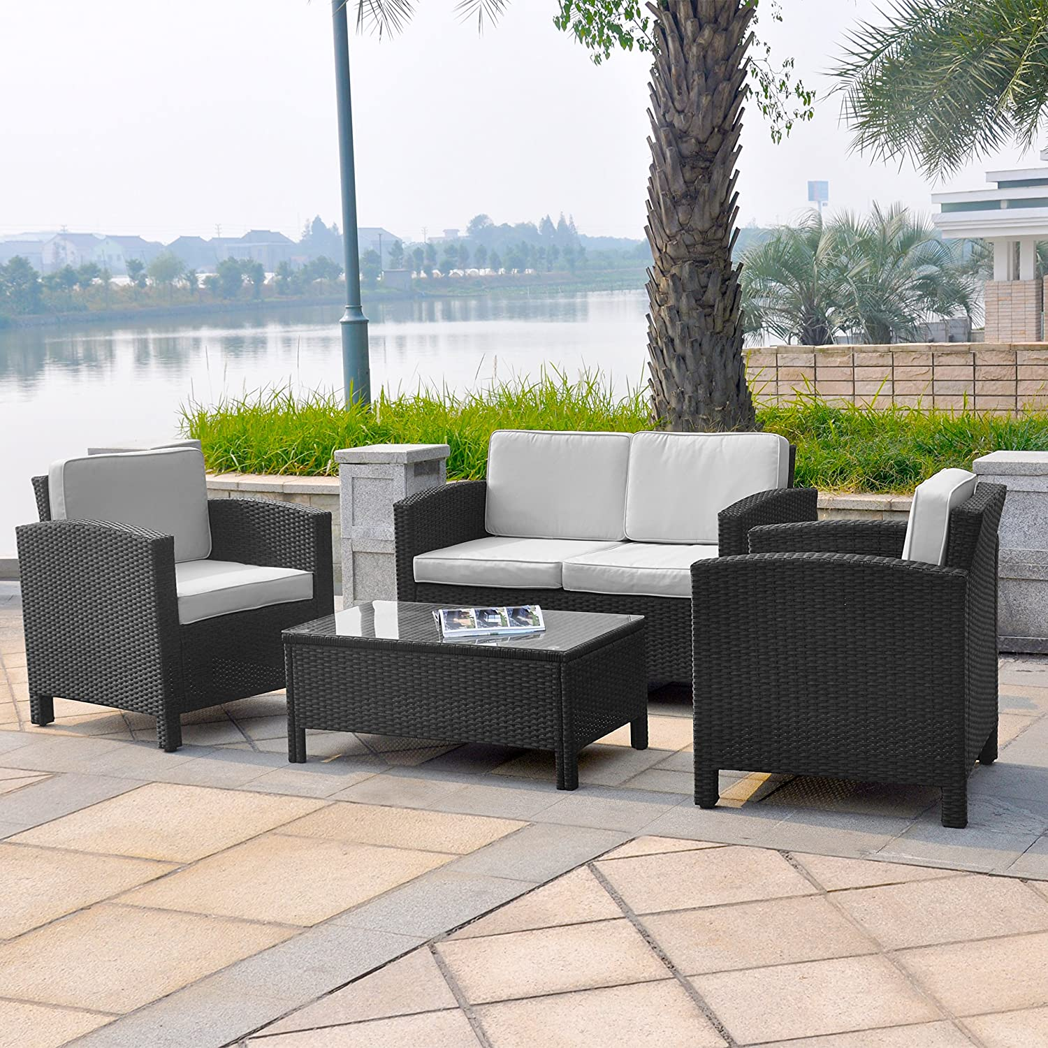 13tlg polyrattan loungem bel set gruppe garnitur gartenm bel rattan lounge set polyrattan. Black Bedroom Furniture Sets. Home Design Ideas