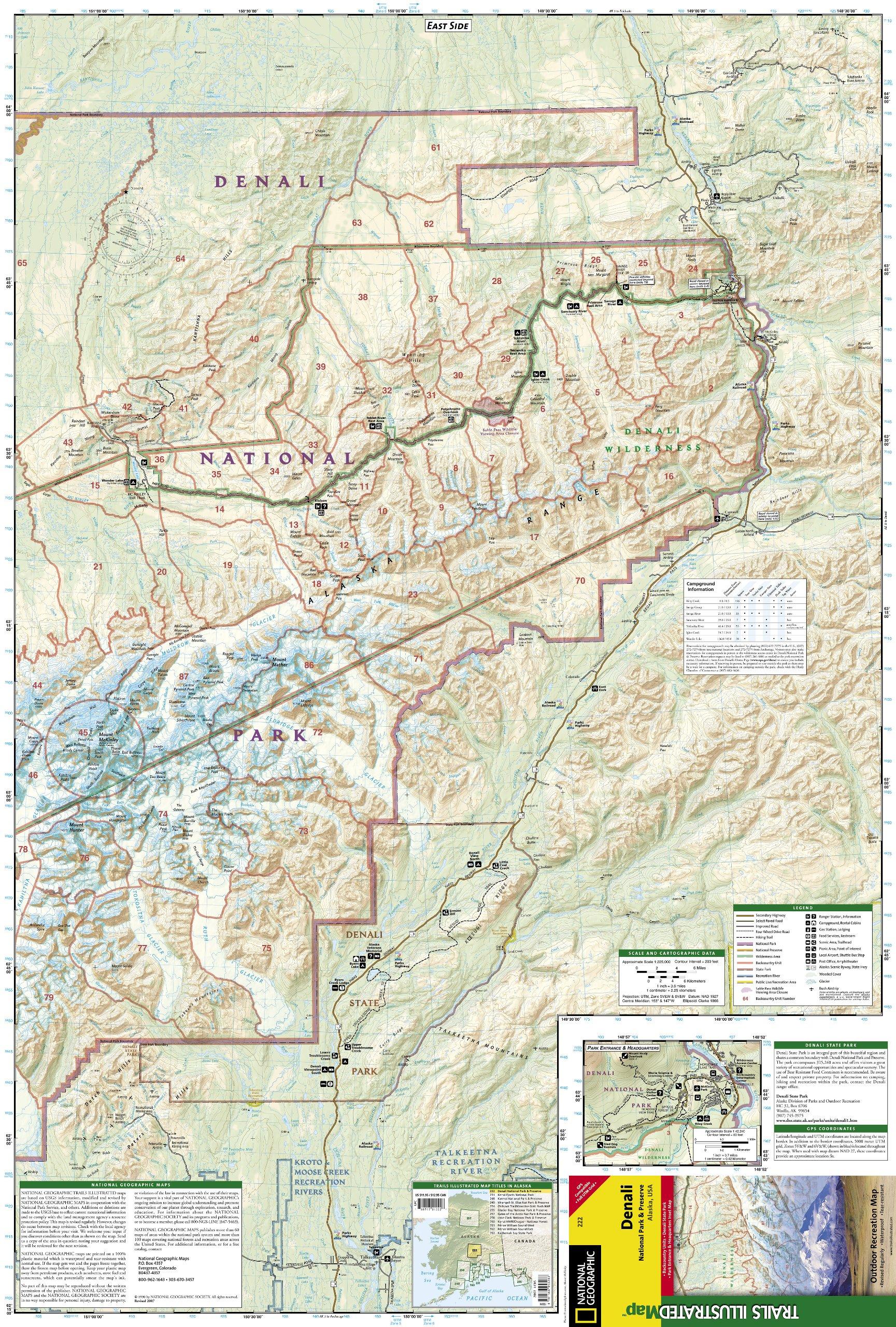 Denali National Park & Preserve: National Geographic Trails ... on