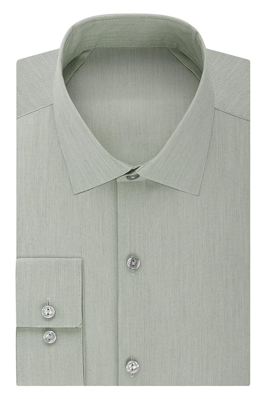 2f131510a8314 Kenneth Cole REACTION Technicole Slim Fit - Camisa de Vestir para Hombre  32R2288