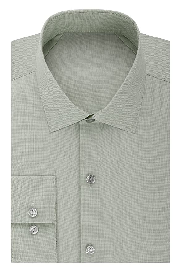 d1542a37f0 Kenneth Cole REACTION Mens Technicole Slim Fit Solid Spread Collar Dress  Shirt: Kenneth Cole: Amazon.ca: Clothing & Accessories