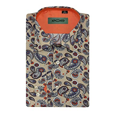 new product bbdbb 9fd94 Xposed Herren Freizeit-Hemd, Paisley beige cremefarben ...