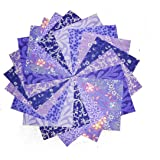 """40 5"""" Purple Passion Charm Pack- 10 DIFFERENT PRINTS- 4 OF EACH"""