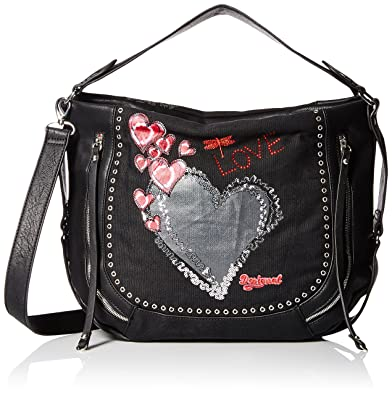 Desigual Bols Sac Noir Taille Heart Punk marteta Unique 8kNXPOn0w