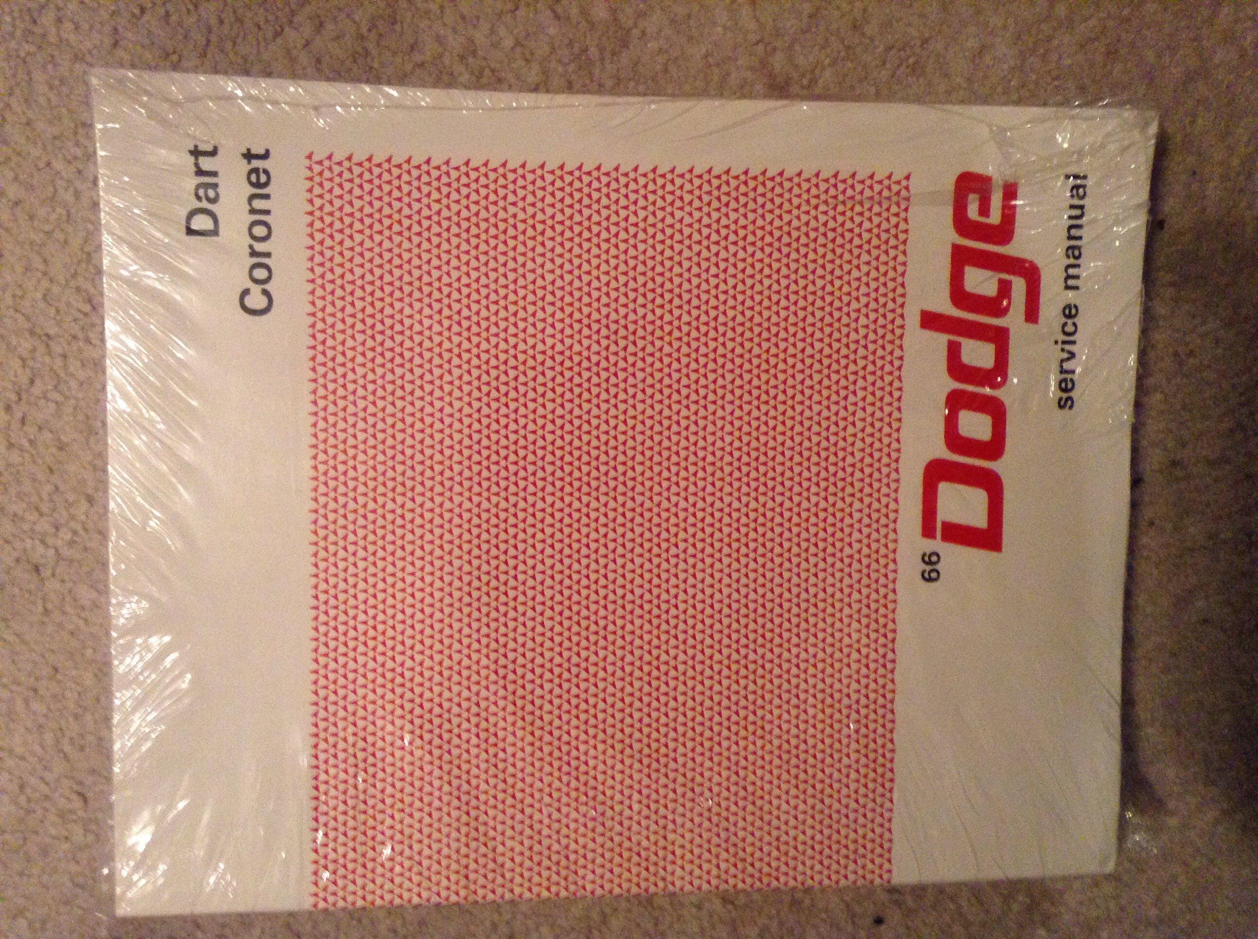 1966 Dodge Charger Coronet Dart Repair Shop Manual Reprint Wiring Diagram Chrysler Books
