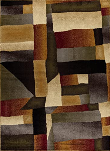"Mod-Arte | Crown Collection | Area Rug | Contemporary Traditional Style | Multicolored Modern Abstract | 7'8"" x 10'2"""