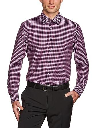 S.Oliver Selection Chemise de travail Col chemise classique Manches longues  Homme - Violet - db8a19861b24