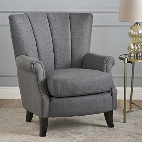 Christopher Knight Home Izara-Ckh Arm Chair, Charcoal Dark Brown