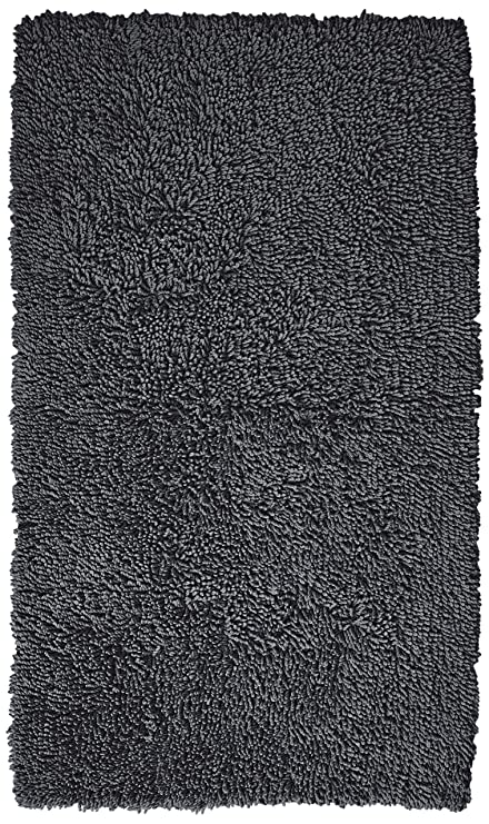Pinzon 100% Cotton Looped Bath Rug With Non Slip Backing   30 X 50