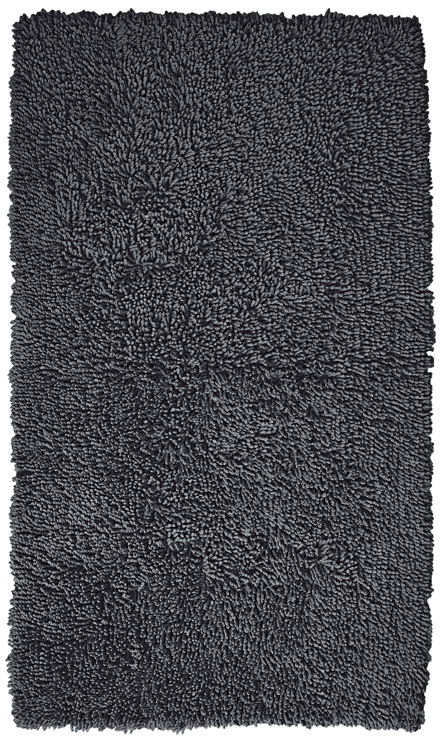 Pinzon 100% Cotton Looped Bath Rug with Non-Slip Backing - 30 x 50 inch, Platinum