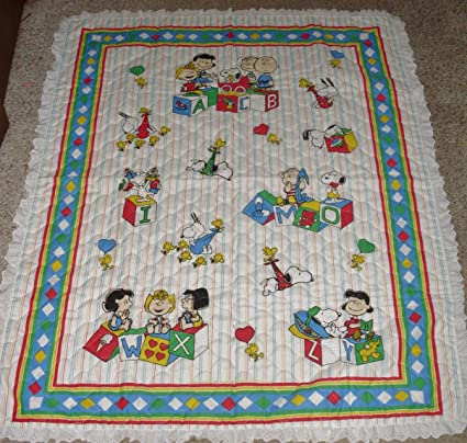 snoopy quilt blanket A Charlie Brown Christmas quilt blanket
