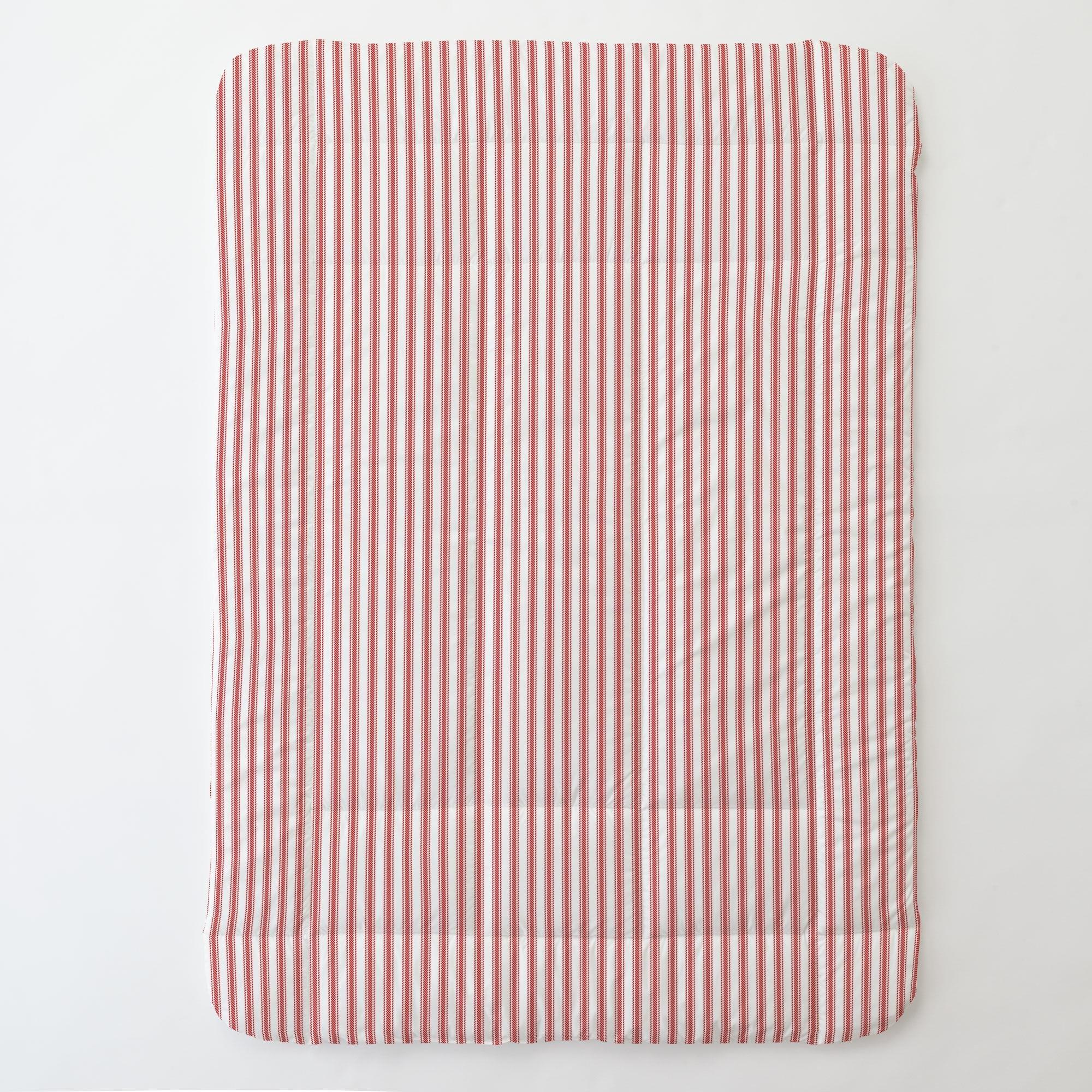 Carousel Designs Red Ticking Stripe Toddler Bed Comforter