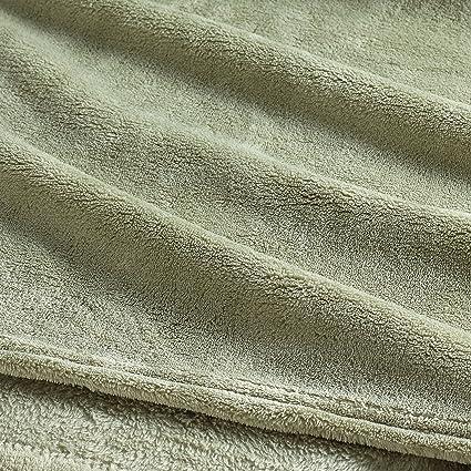 Clara Clark Micro Polar-Fleece Manta – Ultra Acogedor cálido Cama Manta, Salvia,