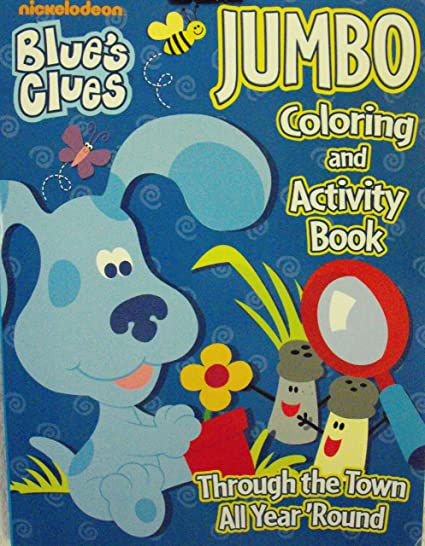 Amazon.com: Blue\'s Clues Coloring & Activity Book- 96 Pg Through the ...